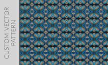 Ornamental Butterfly Vector Pattern