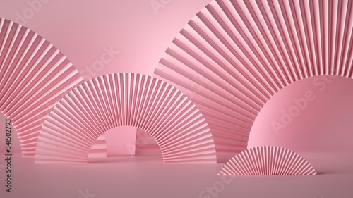 3d render abstract pink fashion stage background Wallpaper Mural