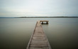 wooden jetty on the river