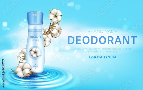 Cotton deodorant antiperspirant spray bottle ad Wallpaper Mural