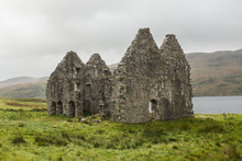 Calda House Abandoned Scottish Stone House At Loch Assynt In Sutherland, Scotland