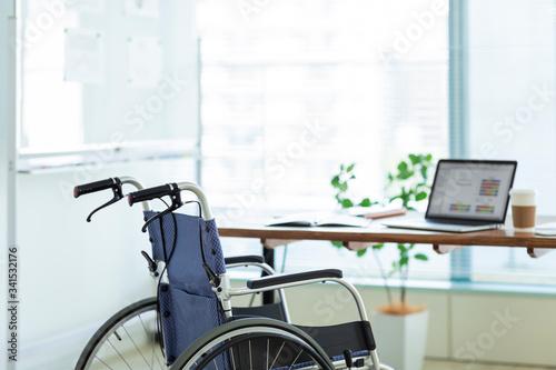 Obraz na plátně 車椅子 ビジネス