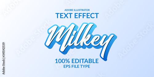 blue script adobe illustrator text effect Fototapet