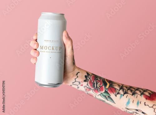 Fotomural Blank beer can