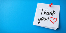 White Sticky Note With Thank Y...