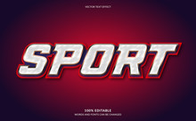 Editable Text Effect, Strong Bold Sport Text Style