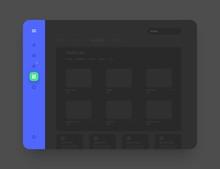 App Sidebar Menu Concept. Wire...