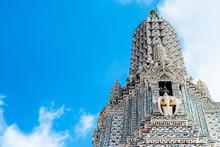 The Pagoda In The Area Around The Main Pagoda, Phra Arang Wat Arun, Arun Temple, Bangkok, Thailand.