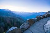 sequoia national park,california,usa.   : Moro rock mountain at sunset.