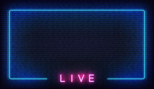 Live Neon Background. Template...