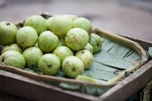Close-up Of Stack Guava On Leaf