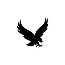 Falcon Bird Icon On White Back...