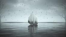 Ghost Floating Evil Spirit In ...