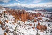 Bryce Canyon In Winter Season
