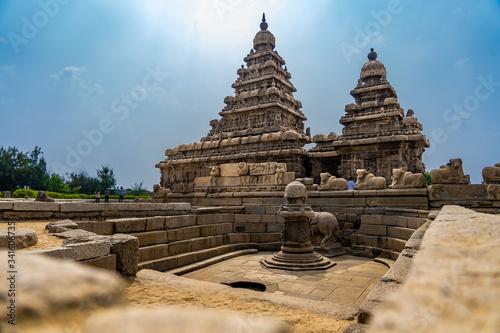 Fotografie, Obraz Mahabalipuram Shore Temple