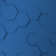Abstract modern honeycomb background in classic blue
