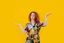 Indecisive Redhead Woman Makin...