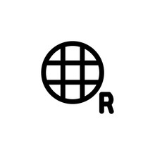 Mobile Data Roaming Icon, Isol...