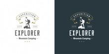 Climber Logo Emblem Outdoor Ad...
