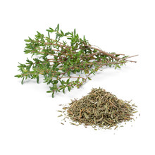 Heap Of Dried Thyme And Fresh ...