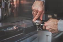 Barista Making Coffee With Lat...