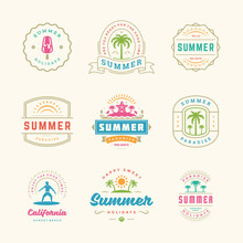 Summer Holidays Labels And Bad...