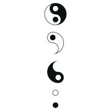 Yin Yang Symbol With White Bac...