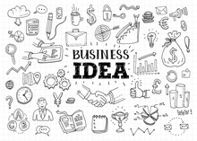 Business Idea Doodles Icons Se...