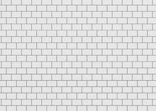 Ceramic Brick Wall 3d Rendering