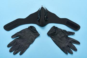 Maseczka chirurgiczna i rękawiczki ochronne -zabezpieczenie przed wirusami