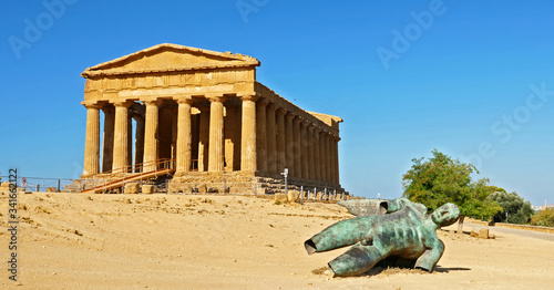 temple of concordia in the valley of temple in Agrigento- Sicilia, Italy Wallpaper Mural