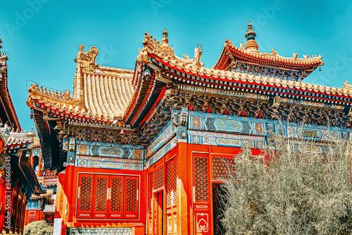 Tableau sur Toile Beautiful View of Yonghegong Lama Temple