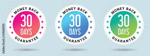 Leinwand Poster 30 Days Money Back Guarantee stamp vector illustration