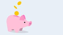Piggy Bank, ぶたさん貯金箱、お金の背景イメージ