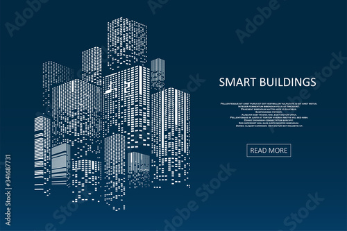 Smart building concept design Fototapet