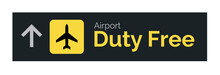 Airport Duty Free Sign Icon. T...