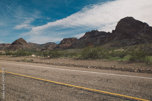 Photo Road By Mountains Against Sky At Route 66