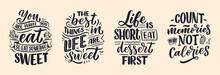 Set With Funny Sayings, Inspir...