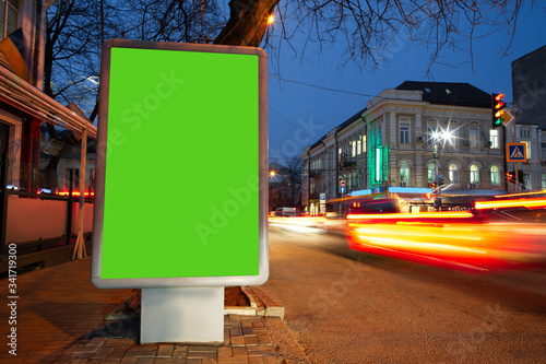 Blank citylight for advertising at the city around, copyspace for your text, image, design Canvas Print