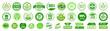 Organic natural bio labels set icon, healthy foods badges, fresh eco vegetarian food – stock vector