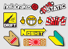 Japanese Car Decals, And Stick...