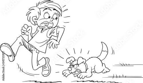 Photo Warning. Beware of dog.