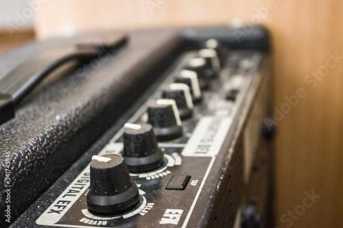 Amplificador de guitarra Canvas Print