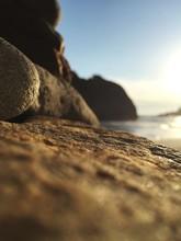Low Angle View Of Rocks On Pfeiffer Beach