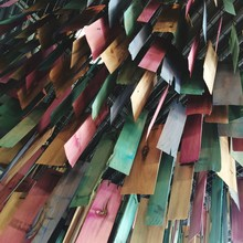 Low Angle View Of Colorful Strips