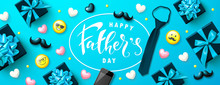 Happy Father's Day Banner With...