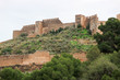 Beautiful view of stately Sagunto medieval fortress near Valencia, Spain