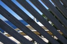 Wooden Fence With Sea