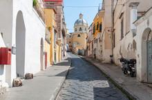 Nice Narrow Street And Colored...