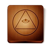 Brown Masons Symbol All-seeing...